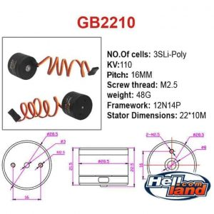 Gimbal motor GB2210 by E-Max