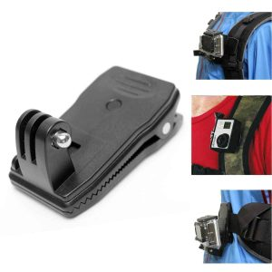 Rotation clip mount for GoPro cameras