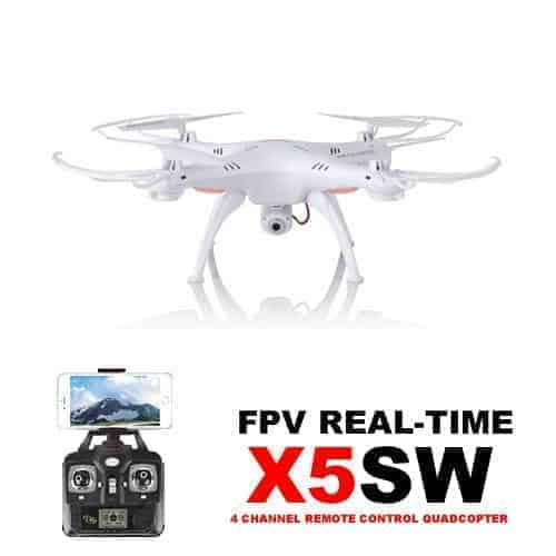 Syma X5SW Drone Wifi FPV Real-time 2.4G (HD CAM) White