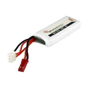 BRAINERGY  LiPo 2s1p 7,4V 300mAh 45C compatible with JST BEC
