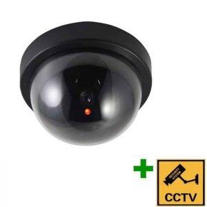 DUMMY CAM 22 Ψεύτικη κάμερα οροφής Ομοίωμα Dummy Camera με LED που αναβοσβήνει