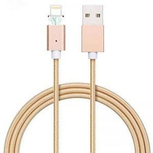 Μαγνητικό καλώδιο για συσκευές iOS Χρυσό (iPhone/iPad Lightning plug - 1m)