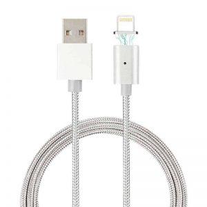 Μαγνητικό καλώδιο για συσκευές iOS Ασημί (iPhone/iPad Lightning plug - 1m)