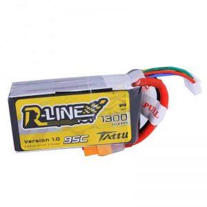 Tattu R-Line 1300mAh 95C 4S1P lipo battery pack